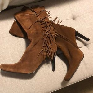 Mia mid calf suede boots